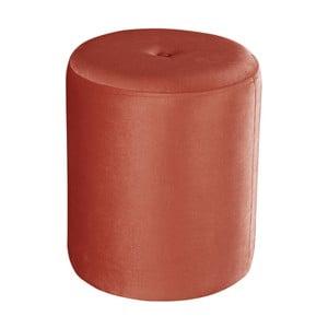 Korálovočervený puf JohnsonStyle Ellen Magic Velvet, ⌀ 40 cm