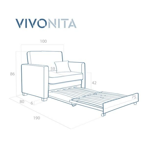 Béžové rozkladacie kreslo Vivonita Brent