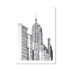 Plagát New York, 30x42 cm