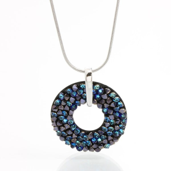 Náhrdelník Laura Bruni so Swarovski Elements Round Blue, 30 mm