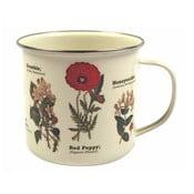 Smaltovaný hrnček Gift Republic s motívom kvetín Wild Flowers