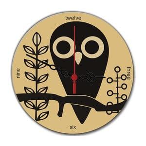 Nástenné hodiny Owl, 30 cm
