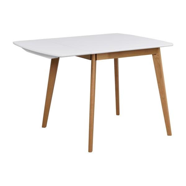 Jedálenský stôl s konštrukciou z dubového dreva so sklápacou doskou Folke Olivia, dĺžka 80 + 30 cm