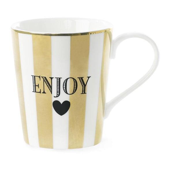 Keramický hrnček Miss Étoile Coffee Enojy Stripe Gold