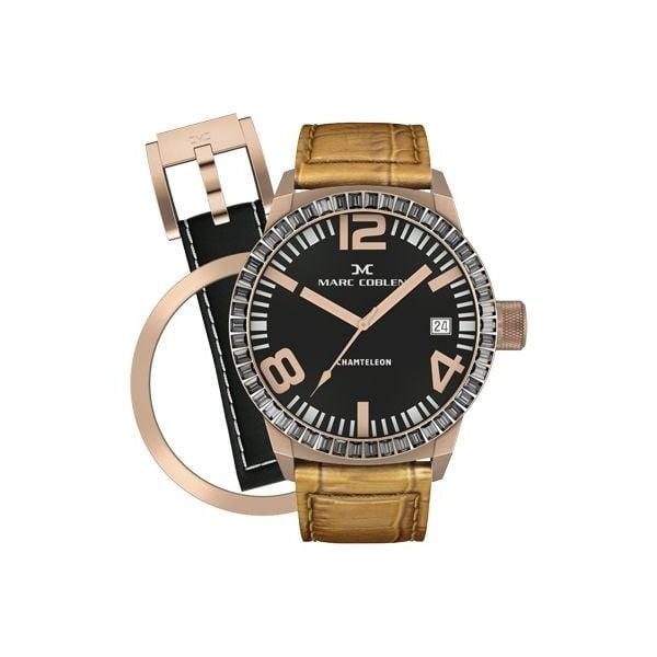 Dámske hodinky Marc Coblen s remienkom a krúžkom na ciferník naviac P25
