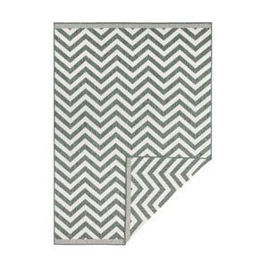 Zeleno-krémový obojstranný vysokoodolný koberec Bougari Twin Supreme Mismo, 80×150 cm