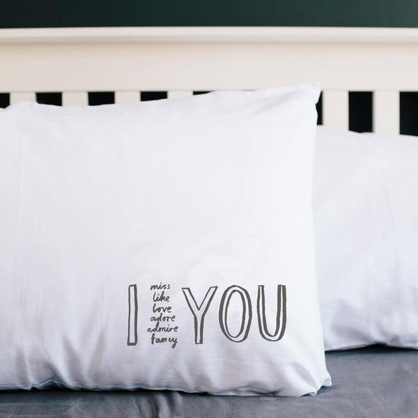 Obliečka na vankúš I Adore You, 50x70 cm
