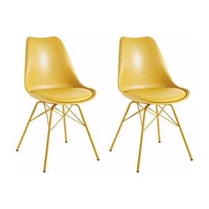 Sada 2 žltých jedálenských  stoličiek Støraa Lucinda