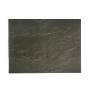 Čierna pracovná doska s motívom lešteného kameňa Typhoon 40 x 30 cm