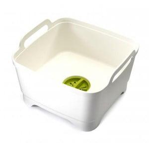 Umývacie nádoba s odtokovým uzáverom Joseph Joseph Wash & Drain, biela