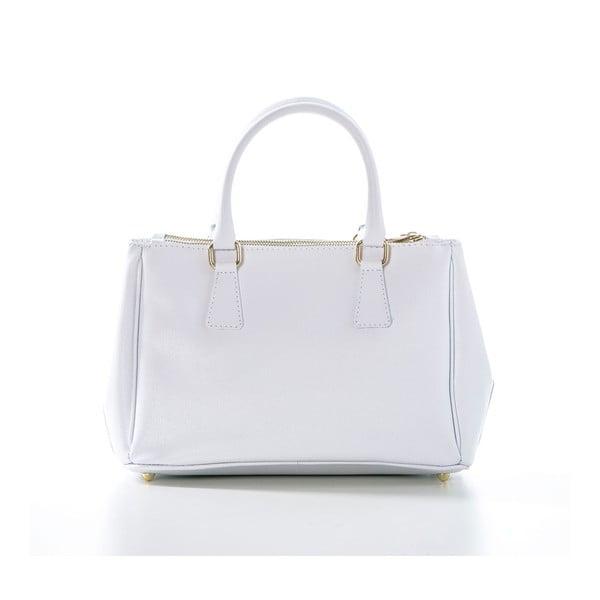 Biela kožená kabelka Federica Bassi Saffi