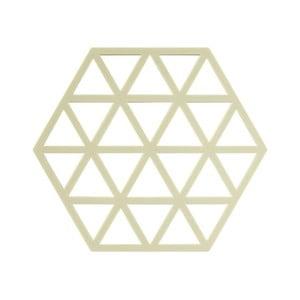 Žltozelená silikónová podložka pod horúce nádoby Zone Triangles