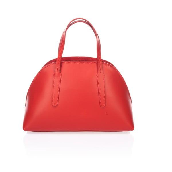 Kožená kabelka Cast, červená