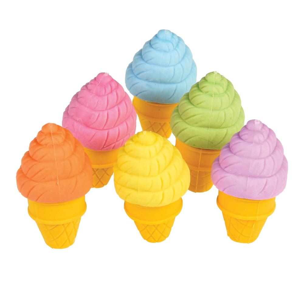 Sada 6 gúm na gúmovanie Rex London Ice Cream