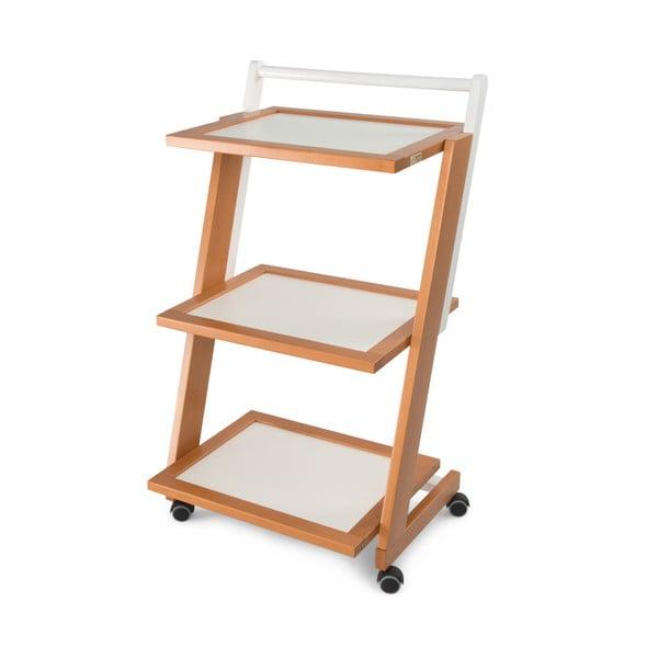 Pojazdný servírovací stolík z bukového dreva Arredamenti Italia ZORDAN