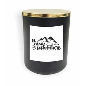 Čierna sviečka North Carolina Scandinavian Home Decors Motto Glass Candle V5