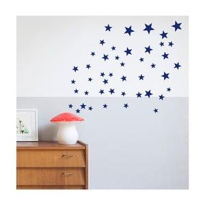 Tmavomodré nástenné samolepky Art For Kids Stars