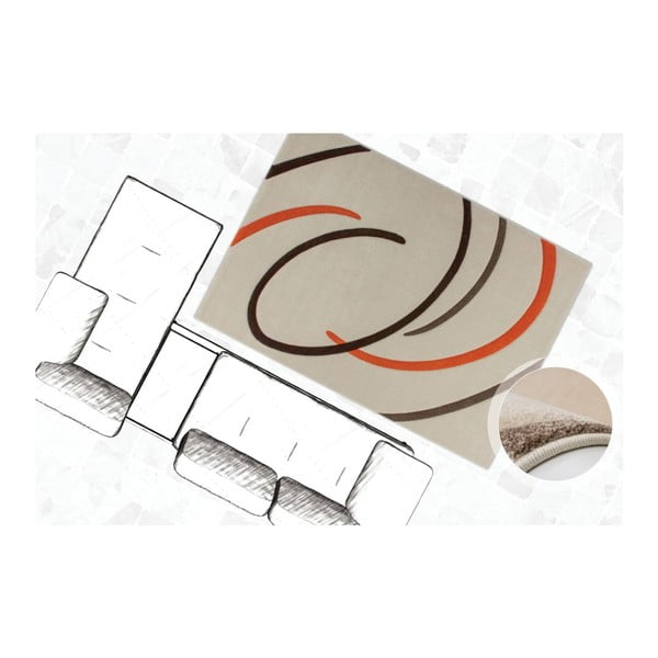 Koberec Melusine 444 Ivory/Orange, 120x170 cm