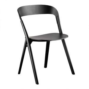 Čierna jedálenská stolička z jasanového dreva Magis Pila