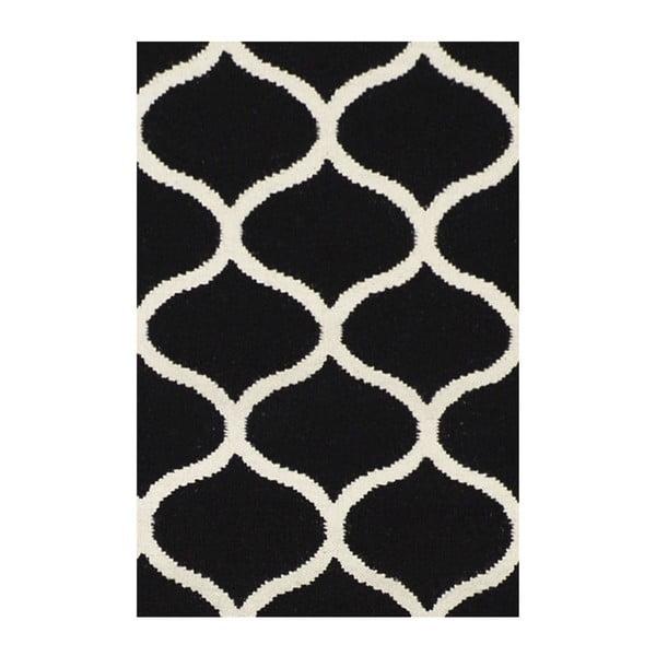 Ručně tkaný koberec Alize Black, 155x240 cm