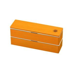 Oranžový desiatový box Joli Bento Antique, 840ml