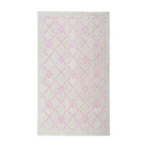 Krémový bavlnený koberec Floorist Powder, 60x90cm