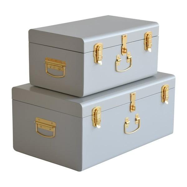 Sada 2 sivých kovových kufríkov RGE Stella Matteus