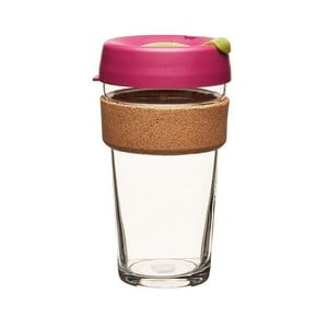 Cestovný hrnček s viečkom KeepCup Brew Cork Edition Cinnamon, 454 ml