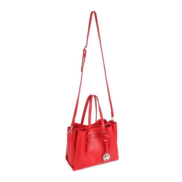 Červená kabelka z eko kože Beverly Hills Polo Club Alicia