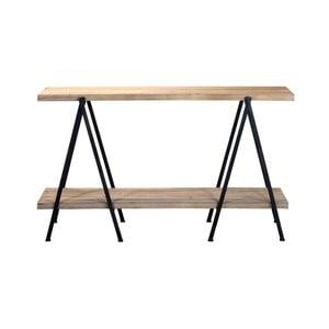 Odkladací stolík z borovicového dreva s dvoma policami Red Cartel
