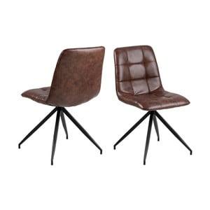 Hnedá jedálenská stolička Interstil Capone