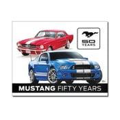 Plechová ceduľa Mustang 50 Years, 30x40 cm