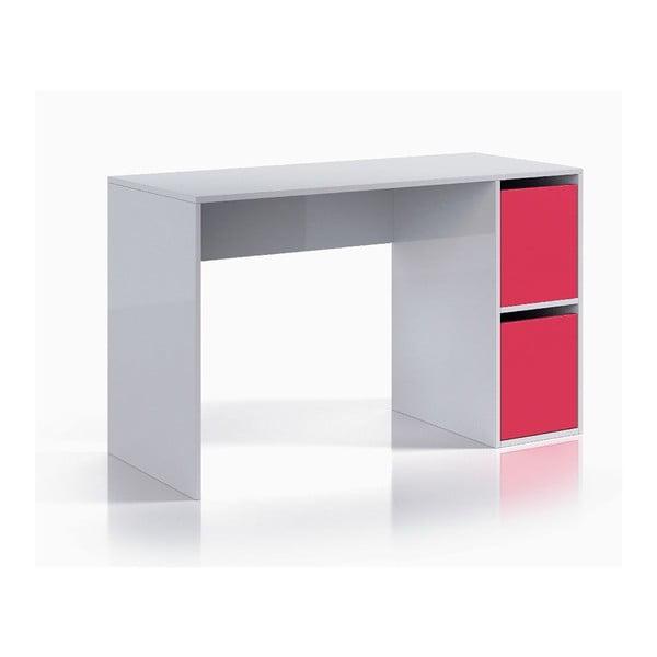 Ružovo-biely pracovný stôl 13Casa Hesse