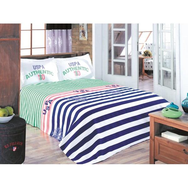 Sada prikrývky cez posteľ a plachty U.S. Polo Assn. Wiliston, 200x220 cm