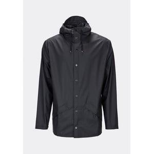 Čierna unisex bunda s vysokou vodoodolnosťou Rains Jacket, veľkosť XXS/XS