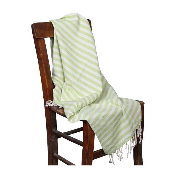 Zelená hammam osuška Akasya Green, 90x190cm