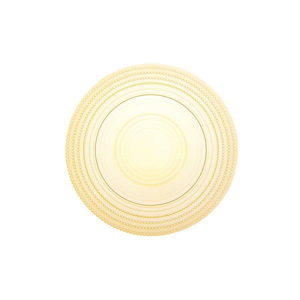 Okrúhly sklenený podnos Pois Giallo