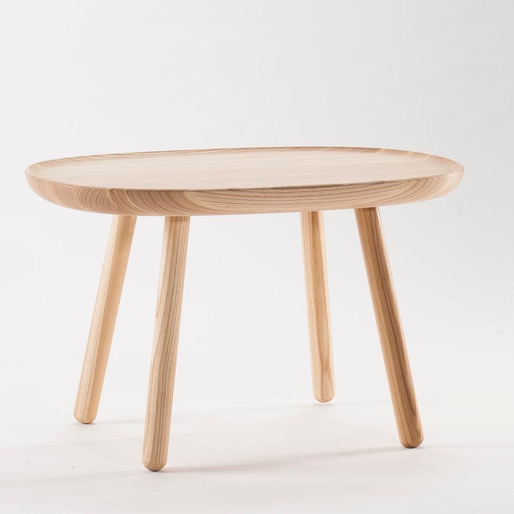 Prírodný odkladací stolík z masívu EMKO Naïve Medium