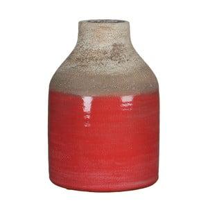 Červená váza Mica Belinda, 25x17 cm