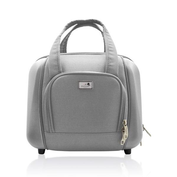 Sada tašky na koliekach a príručnej tašky Vanity Grey