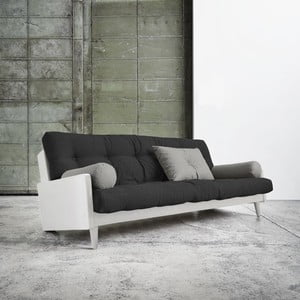 Rozkladacia pohovka Karup Indie White/Dark Grey/Granite Grey