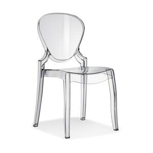 Transparentná stolička Pedrali Queen
