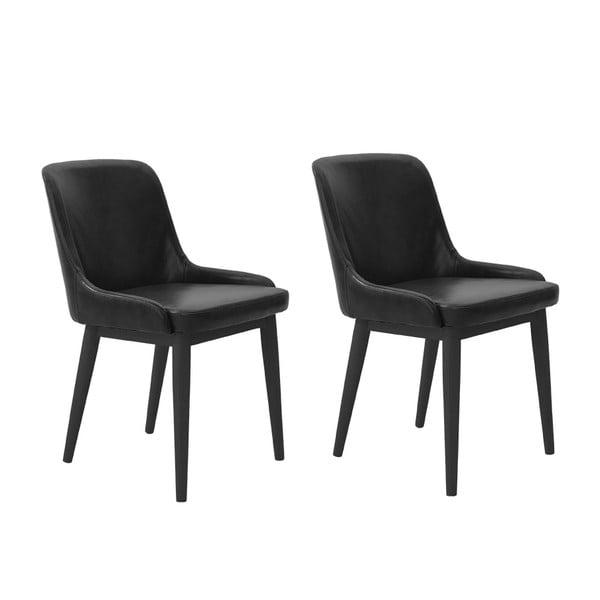 Sada 2 jedálenských stoličiek Edgar, čierne