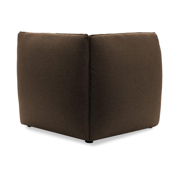 Tmavo béžové kreslo VIVONITA Cube, pravá strana