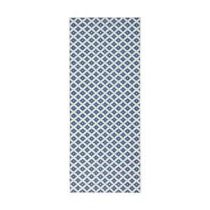Svetlomodrý vzorovaný obojstranný koberec Bougari Nizza, 80×350 cm