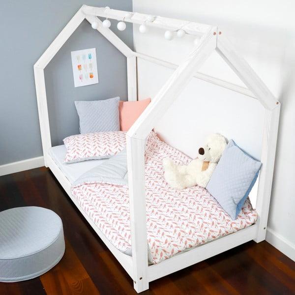 Detská biela posteľ z borovicového dreva Benlemi Tery, 120 x 200 cm