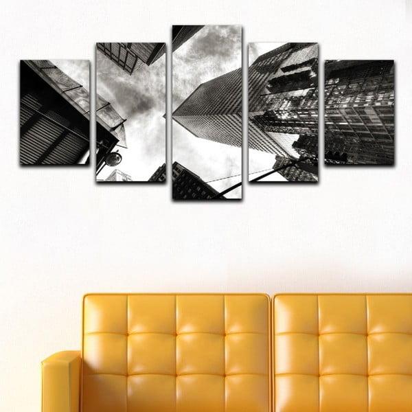 Viacdielny obraz Black&White Skyscrapers