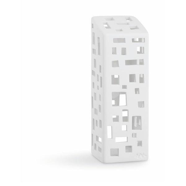 Biely keramický svietnik Kähler Design Urbania Lighthouse High Building