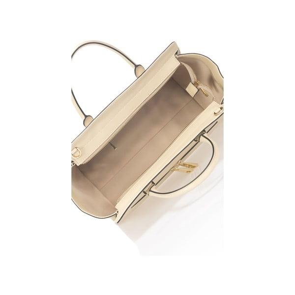 Béžová kožená kabelka Krole Kristina