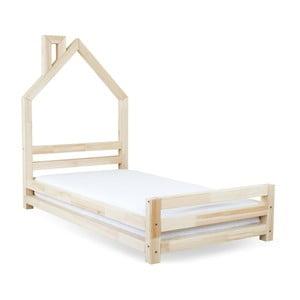 Detská posteľ z lakovaného smrekového dreva Benlemi Wally, 90 × 200 cm